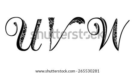 Quiz Vector Hand Drawn Lettering Illustration Stock Vector