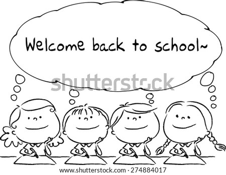 Welcome Back School Stock Vector (Royalty Free) 274884017