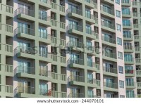 View Balconies Apartment Building Stock Photo 541239616 ...
