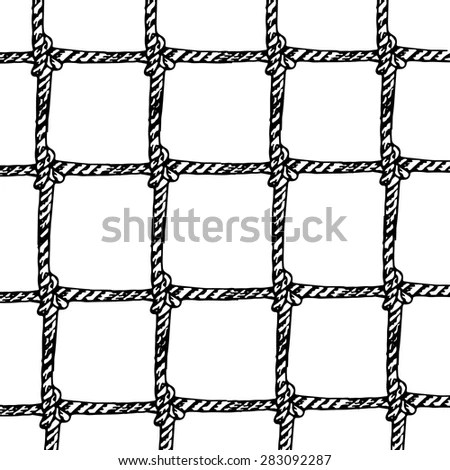 Hand Drawn Rope Chain Seamless Pattern Stock Vector