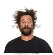 crazy hair stock royalty-free