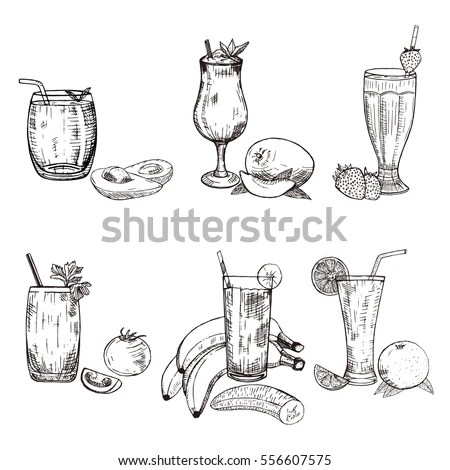 Smoothie Sketch Stock Images, Royalty-Free Images