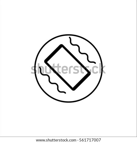 Phone Vibration Solid Icon Mobile Sign Stock Vector