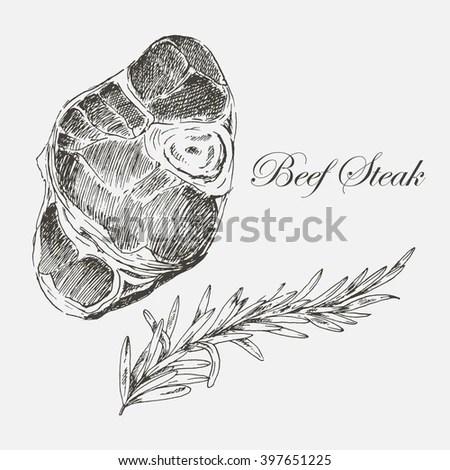 T-bone Steak Illustration Stock Images, Royalty-Free