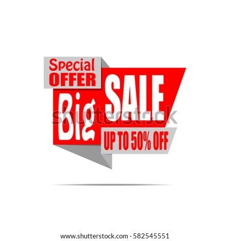 Big Sale Banner Red Discount Poster Stock Vector 604565795  Shutterstock