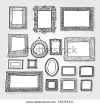Hand Drawn Picture Frame Stock Images, Royalty-Free Images ...