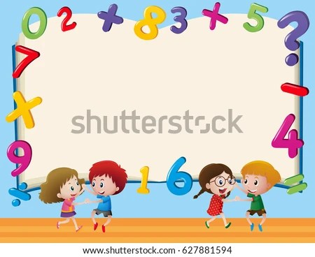 Border Template Kids Numbers Illustration Stock Vector 627881594  Shutterstock