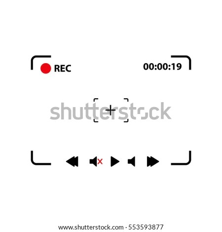 Vector Focusing Screen Camera Viewfinder Camera Stock