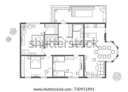 Architectural Floor Plan Symbols Bathroom Home Drawing