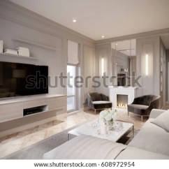 Light Brown Sofa Living Room Ideas Blue Grey Paint Colors For Modern Beige Gray Interior Stock Illustration ...