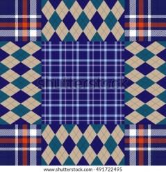 quilt vector pattern block seamless patchwork plaid argyle blocks collage beige check shutterstock textile checkered print