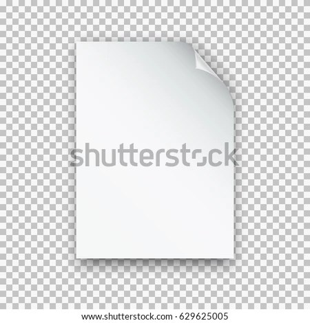 Vector A4 Mockup Isolated On Transparent Stock Vector