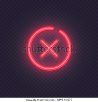 Cross Red Icon Isolated On Transparent Stock Vector ...