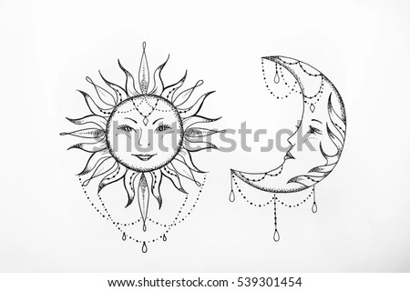 List of Synonyms and Antonyms of the Word: moon sketch