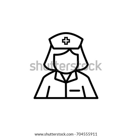 Nurse Icon On Wite Backgrond Health Stock Vector 577769251