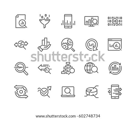 Simple Set Data Analysis Related Vector Stock Vector