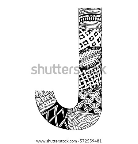 Zentangle Letters Stock Photos, Royalty-Free Images