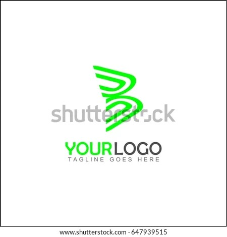 Abstract Leaf Shell Universal Premium Logo Stock Vector