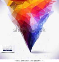 Abstract Geometric Colorful Composition Tornado Colors