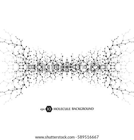 Molecules Concept Neurons Nervous System Scientific Stock