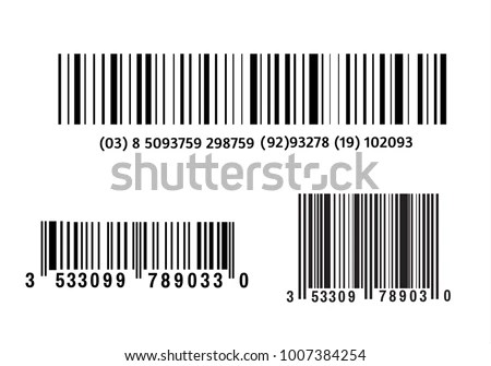 Realistic Bar Code Icon Modern Simple Stock Vector
