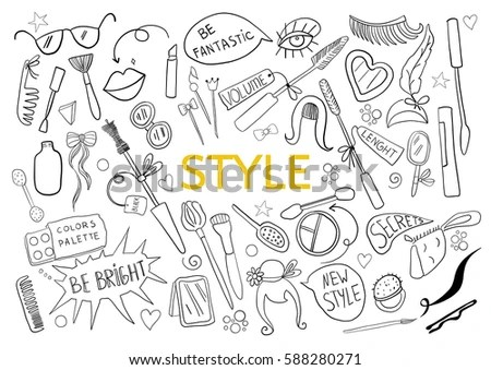 Be Creative Style Doodle Hand Drawn Stock Vector 588280271