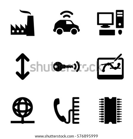 Industrial Automated Robot Icons Mechanical Engineering