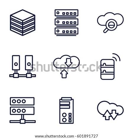 Database Icons Set Set 9 Database Stock Vector 601891727