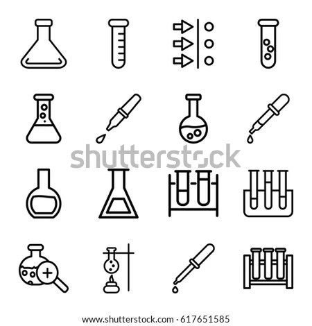 Lab Flask Outline Icon Stock Images, Royalty-Free Images