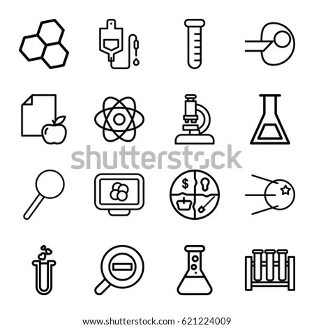 Chemistry Science Icon Set Stock Vector 128409839
