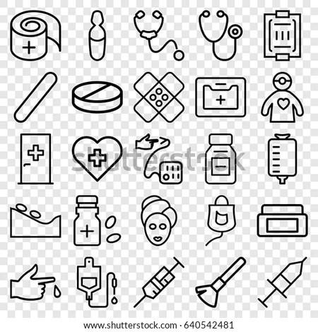 Healthy Medical Symbol Line Icon On Stock Vector 149508167