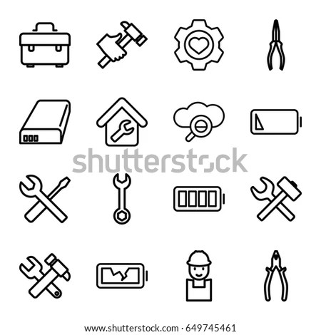 Heating Air Conditioning Set Vector Icon Stock Vector