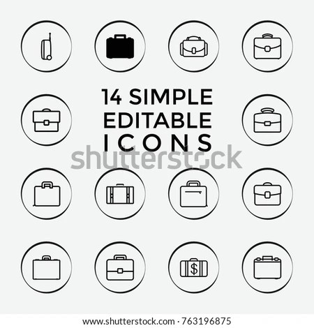 Simple Set Batteries Related Vector Line Stock Vector