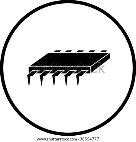 Integrated Circuit Microchip Symbol Stock Illustration