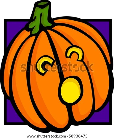 jack lantern pumpkin stock vector