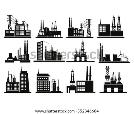 Engineering And Architecture Vector Industrial Icon Energy