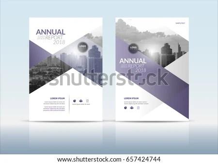Annual Report Cover Flyer Presentation Brochure Stock Vector ...