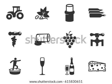 Wine Production Vector Icons Set Stock Vector 238087252