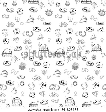 Vector Doodle Seamless Pattern Bake Sweets Stock Vector