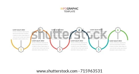 Timeline Infographics Arrows Design Template 6 Stock