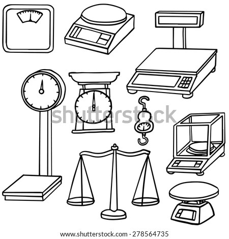 Set Different Libra Weight Measuring Instruments Stock