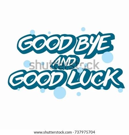 Farewell Card All Best Template Stock Vector 737975704 - Shutterstock