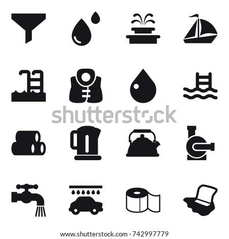 Water Treatment Plant Water Filter Vector Stock Vector