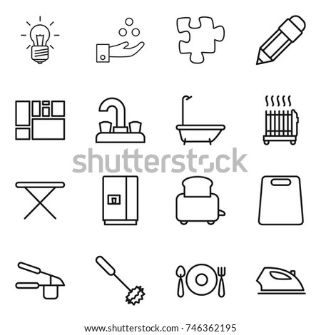 Plumbing Icons Set On White Background Stock Vector