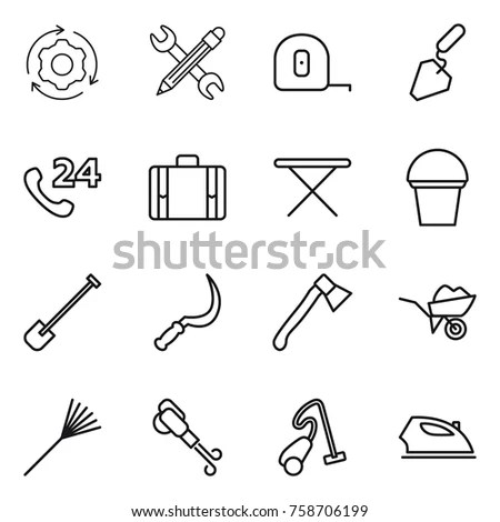Black Vector Construction Icon Set Stock Vector 103418744