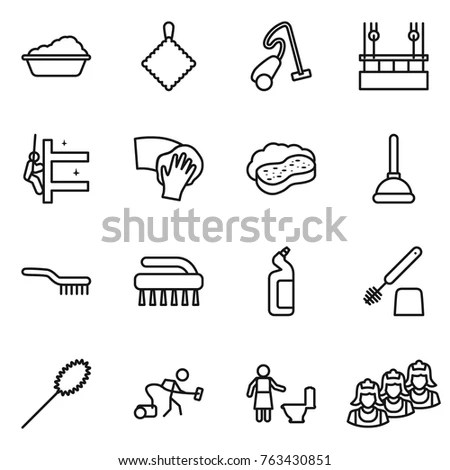 Cartoon Vector Illustration Hygiene Cleaning Objects Stock