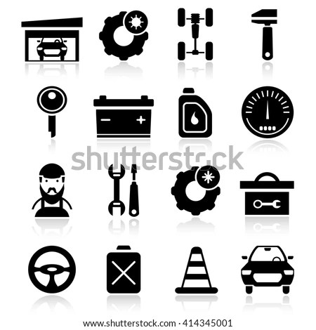 Auto Service Icons Stock Images, Royalty-Free Images