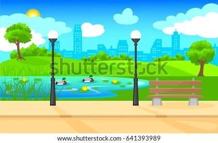 Park Background Stock Vector 70211824 Shutterstock