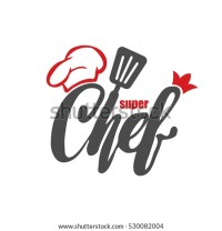 Chef Logo Lettering Hand Lettering Cap Stock Vector ...