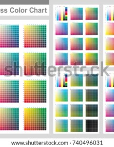 Cmyk press color chart vector palette process printing match cyan also stock royalty free rh shutterstock